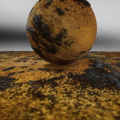 Cliquez sur l'image pour la voir en taille réelle  Nom : Mineral Reign 23 - Sulfure and Goethite.jpg Affichages :4 Taille :195,8 Ko ID : 21084