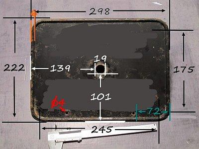 Cliquez sur l'image pour la voir en taille réelle  Nom : isetta velam plaque AR cotes.jpg Affichages :2 Taille :80,1 Ko ID : 23234